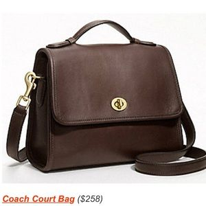 Coach court bag
